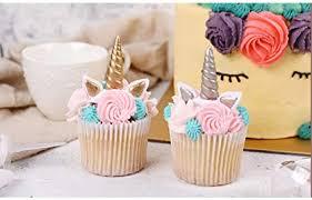 Amazoncom The Silver Gold Unicorn Birthday Cake Topper Decor Party