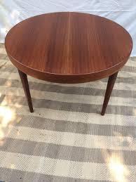 round teak dining table 1960s