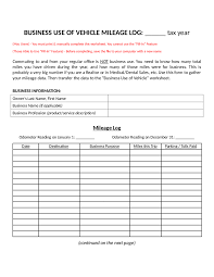 Free Excel Mileage Log Mileage Log Templatexcel Free For Printable Templates