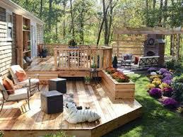 Unique Deck Design Ideas Narrow Small Yard Patio Hardscape Backyard Deck Design Ideas