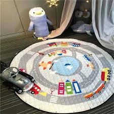 round childrens rugs cartoon quilted cotton baby play mat for children kids toys storage bags carpet