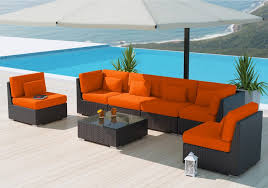 wicker patio furniture. A PE Plastic Wicker Patio Furniture Sectional Set