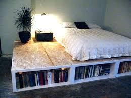 On Floor Bed Frame Bed Mattress On Floor Ideas Floor Bed Ideas Bed Frame  With Bookcase . On Floor Bed ...