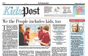 example of a newspaper article kidspost page newspaper in education