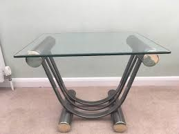 furniture village glass and chrome side table good condition 25