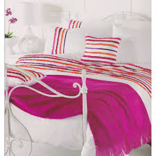 stunning white pink orange purple ruffled super king size duvet cover