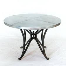 zinc table top hammered zinc round tabletop 42 round zinc top table