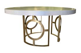contemporary dining table concrete wrought iron round