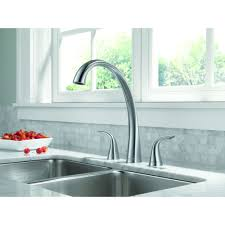 Delta Pilar Kitchen Faucet Delta Faucet 2480 Ar Dst Pilar Arctic Stainless Two Handle With