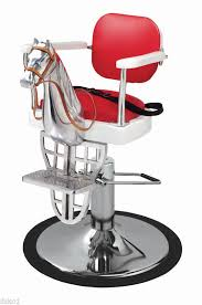 pibbs cavallino 1801 kids barber salon chair horse head seat has hydraulic foot pump well built when ordering please include full address to