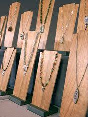 Wooden Necklace Display Stands Rebecca Chandler of Sweet Grass Jewelry Nice The stand part 1