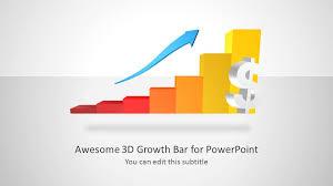 Growth Chart Design 3d Growth Bar Chart For Powerpoint