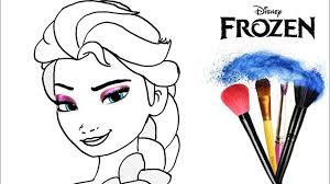 how to draw elsa princess from frozen makeup color tutorial drawing kids learn colors