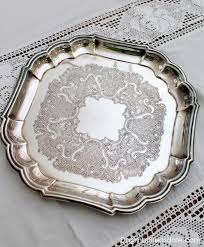Decorating With Silver Trays Decorating With a Thrift Store Silver Tray Link Party 100 83