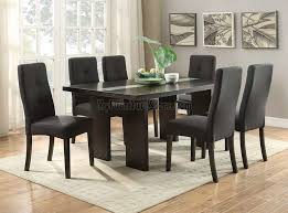 f table with polyester fabric chairs dining room set by poundex sets