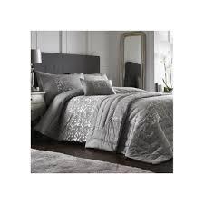 lucien silver damask luxury duvet cover set