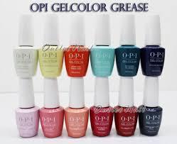 Opi Soak Off Gelcolor Grease Collection Kit Gel Polish Color Summer 2018 0 5oz 15ml