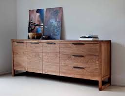 4 door solid oak flat sideboard