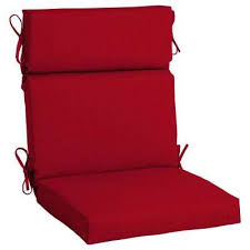 21 5 x 20 sunbrella spectrum cherry high back outdoor dining chair cushion