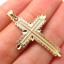 details about 925 sterling silver gold plated crucifix cross religious pendant