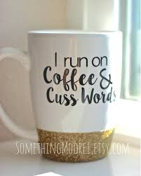 office space coffee mug. Office Space Coffee Mug Lumbergh Cup I Run On Cuss Words Glitter Dipped G