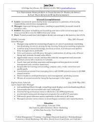 Management Resume Examples New Resume Samples For Retail Management