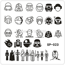 star wars template star wars design nail art stamping image plates stainless