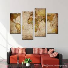 amosi art canvas prints wall art decor retro world map abstract painting pictures for home decor wooden framed ready to hang world map painting wall art  on canvas wall art home goods with amosi art canvas prints wall art decor retro world map abstract