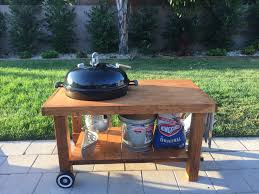 weber kettle table diy