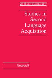 studies in second language acquisition core