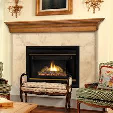60 lindon mission oak finished fireplace shelf by pearl mantels