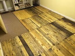 Removable Pallet Kitchen Floor!