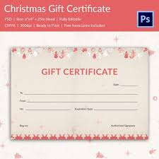Printable Christmas Certificates Christmas Gift Certificate Templates 100 PSD Format Download 49