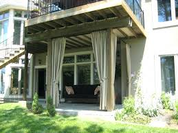 deck curtains deck with pergola