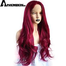 Long <b>Red</b> Body Wave Lace Front Wig