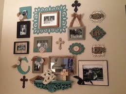 Wall collage made from different frames and other wall decorations!