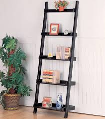 image ladder bookshelf design simple furniture. Simple Leaning Ladder Bookcase And Siding Wall Living Room Wooden Bookcases Shelves Wood Image Bookshelf Design Furniture K