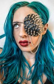spiked leather eyepatch