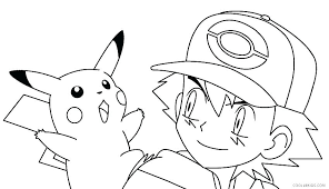 cute pikachu coloring pages and baby color ash colouring