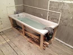 bath frame to support bath with bathroom installation in leeds