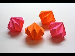 Easy and rich - Origami <b>diamond ornaments</b>. <b>Christmas decoration</b> ...