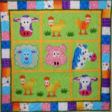 BABY QUILT PATTERNS FARM ANIMALS | Sewing Patterns for Baby & Applique Farm Animals Quilt Pattern Adamdwight.com