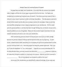 model research paper proposal a sample research proposal comments