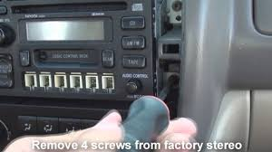 remove stereo toyota avalon 1999 2003