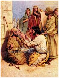 Image result for pictures of Jesus and the Blind man