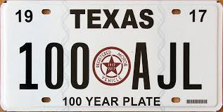 texas 100th anniversary of the first state issued license plate from the department of motor vehicles november 2017 image from facebook post of jeff