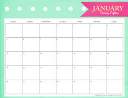 Free Printable Calendars To Stay Organized In 2015