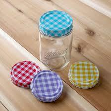 Mason Jars With Decorative Lids Amazon Lily's Home Decorative Canning Lids for Mason Ball 18