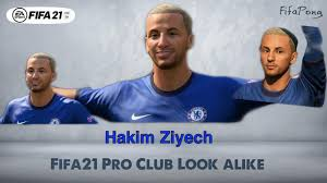 FIFA 21 faces Virtual Pro club look alike Hakim Ziyech // Chelsea //  Morocco - YouTube