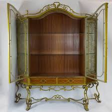 vintage art deco furniture. Vintage Art Deco Painted Ironwork Display Cabinet Open Furniture D